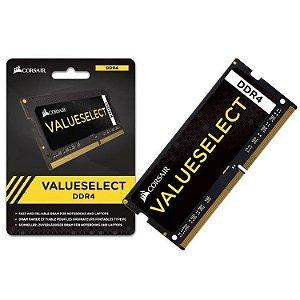 MEMÓRIA CORSAIR VALUESELECT NOTEBOOK 16GB 2133MHZ, DDR4, CMSO16GX4M1A2133C15