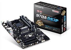PLACA MÃE GIGABYTE 970A-DS3P AMD AM3+ DDR3, GA- 970A-DS3P