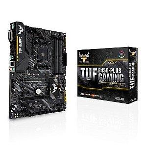 PLACA MÃE ASUS TUF B450-PLUS GAMING, DDR4 SOCKET AM4 CHIPSET AMD B450