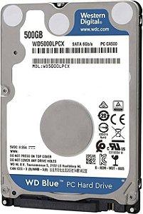 HD Notebook 500GB Sata II 7MM Western Digital - WD5000LPCX