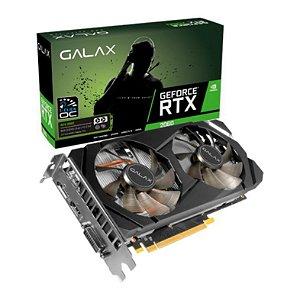 PLACA DE VIDEO GALAX GEFORCE RTX 2060 6GB GDDR6 1-CLICK OC 192-BIT, 26NRL7HPX7OC