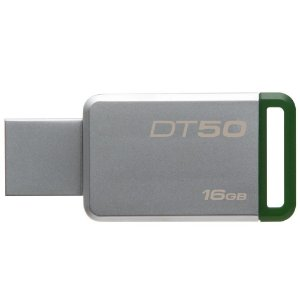 PEN DRIVE KINGSTON DataTraveler 50, 16GB USB 3.1, VERDE - DT50/16GB