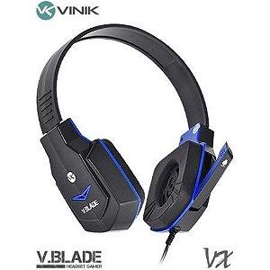 HEADSET GAMER V BLADE VX GAMING, VINIK, PRETO E AZUL - 23649