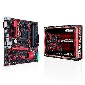 PLACA MÃE ASUS EX-A320M-GAMING, AMD AM4, DDR4, 90MB0VG0-M0EAYM