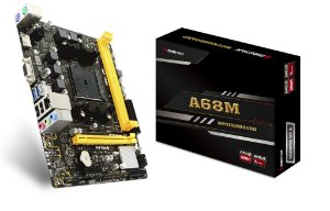 PLACA MÃE A68MHE BIOSTAR, AMD FM2+ , DDR3, mATX