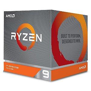 PROCESSADOR AMD RYZEN 9 3900X, AM4, Cache 64MB 3.8GHz (4.6GHz Max Turbo), Sem Vídeo - 100-100000023BOX