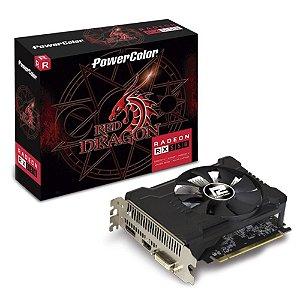PLACA DE VÍDEO POWERCOLOR RADEON RX 550 2GB, GDDR5, RED DRAGON, AMD - AXRX 550 2GBD5-DHA/OC