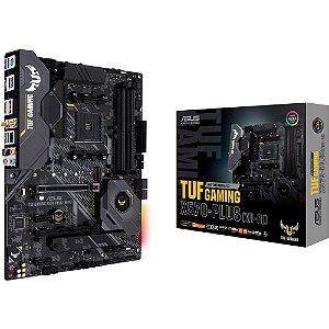 PLACA MÃE ASUS TUF GAMING X570-PLUS (WI-FI), AMD AM4, ATX, PCIe 4.0 - 90MB1170-M0EAY0