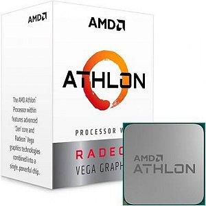 PROCESSADOR AMD ATHLON 3000G, 3.5GHz, 2-Core, 4-Thread, 4Mb Cache, AM4 - YD3000C6FHBOX