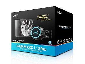 WATER COOLER DEEPCOOL GAMMAXX L120 v2, 120MM, RGB, AMD/INTEL - DP-H12RF-GL120V2