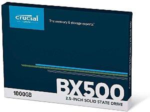 SSD CRUCIAL BX500 1TB Leitura 560MB/S Gravação 510MB/s SATA 3