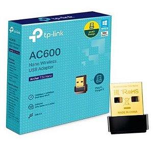 ADAPTADOR NANO USB WIRELESS AC600 ARCHER T2U NANO DUAL BAND