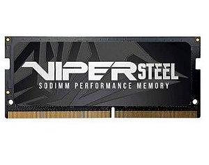 MEMÓRIA PATRIOT VIPER STEEL 16GB (1X16GB), 2666MHZ, DDR4, P/ NOTEBOOK, CL18 - PVS416G266C8S