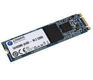 SSD KINGSTON A400, 480GB, M.2, LEITURA 500MB/S, GRAVAÇÃO 450MB/S - SA400M8/480G
