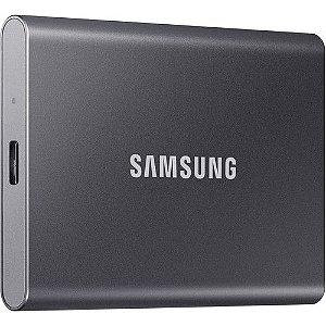 SSD EXTERNO SAMSUNG T7 USB 3.2 1 TB (CINZA) – UM-PC1T0T/AM