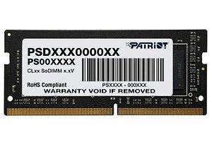MEMÓRIA RAM PARA NOTEBOOK 8GB 2400MHZ DDR4  PATRIOT - PSD48G240081S