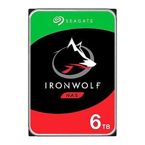 """HD SEAGATE IRONWOLF 6TB 3.5"""" SATA III 6GB/S - ST6000VN001"""