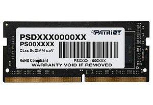 MEMÓRIA RAM PARA NOTEBOOK 16GB 2400MHZ DDR4  PATRIOT - PSD416G24002S
