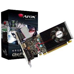PLACA DE VÍDEO GEFORCE AFOX GT 730 2GB DDR3 HDMI DVI 128 BITS ATÉ 2 MONITORES - AF730-2048D3L6