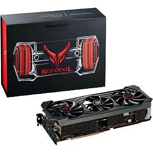 PLACA DE VÍDEO POWER COLOR RADEON RX 6800 XT RED DEVIL 16GB GDDR6 PCI 4.0 - AXRX 6800XT 16GBD6-2DHCE/OC