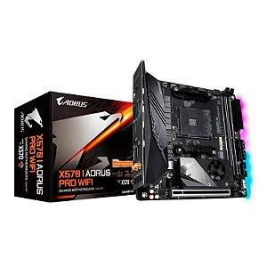 PLACA MAE GIGABYTE X570 I AORUS PRO WIFI DDR4 SOCKET AM4 CHIPSET AMD X570