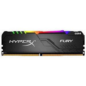 MEMÓRIA DDR4 KINGSTON HYPERX FURY RGB, 16GB 3000MHZ, BLACK - HX430C15FB3A/16