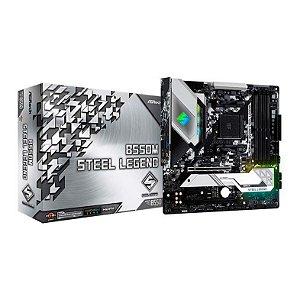 PLACA MAE ASROCK B550M STEEL LEGEND DDR4 SOCKET AM4 CHIPSET AMD B550