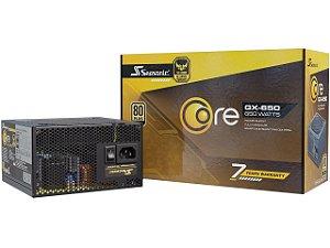 FONTE SEASONIC CORE GX-650, 650W, 80 PLUS GOLD MODULAR - SSR-650LX