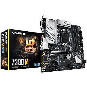 PLACA MÃE GIGABYTE Z390 M, INTEL LGA 1151, DDR4, mATX