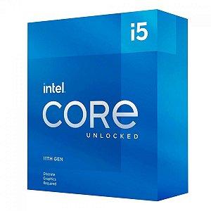 PROCESSADOR INTEL CORE I5 11600KF 3.9GHZ (5.0GHZ TURBO), 11ª GERAÇÃO, 6-CORES 12-THREADS, LGA 1200 - BX8070811600KF