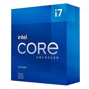 PROCESSADOR INTEL CORE I7 11700KF 3.6GHZ (5.0GHZ TURBO), 11ª GERAÇÃO, 8-CORES 16-THREADS, LGA 1200 - BX8070811700KF