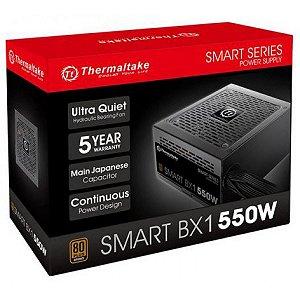 FONTE THERMALTAKE SMART BX1 550W, 80 PLUS BRONZE, PFC ATIVO - PS-SPD-0550NNFABB