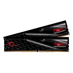MEMORIA G.SKILL FORTIS AMD 16GB (2X8) DDR4 2400MHZ PRETA - F4-2400C15D-16GFT