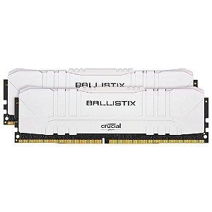 MEMÓRIA CRUCIAL BALLISTIX SPORT LT, 16GB (2X8), 3000MHZ, DDR4, CL15, BRANCA - BL2K8G30C15U4W