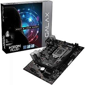 PLACA MÃE GALAX H310M PLUS+, CHIPSET H310, INTEL LGA 1151, MATX, DDR4