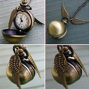 Colar/Relógio - Pomo De Ouro