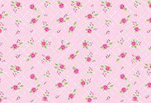 FELTRO ESTAMPADO MEWI - Floral Provence ROSA - 35x35cm