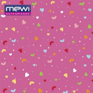 FELTRO ESTAMPADO MEWI - Coleção Confete PINK - 35x35cm