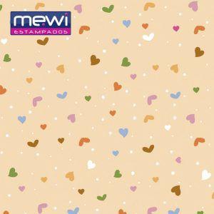 FELTRO ESTAMPADO MEWI - Coleção Confete CENOURA - 35x35cm