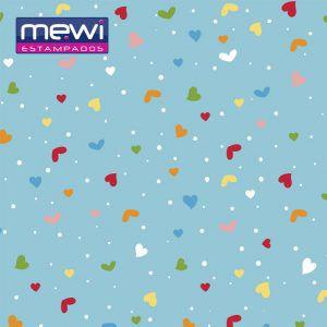 FELTRO ESTAMPADO MEWI - Coleção Confete TURQUEZA - 35x35cm