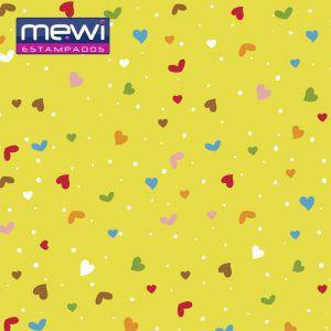 FELTRO ESTAMPADO MEWI - Coleção Confete VIOLETA - 35x35cm