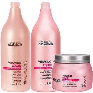 Loreal Profissional - Vitamino Color  Kit (Shampoo 1500ml + Condicionador 1,5l + Máscara 500g)