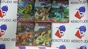 kit de 5 bonecos jurassic park compatível com lego