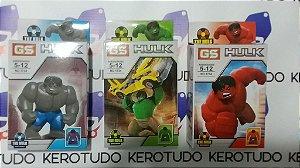 Kit 3 bonecos HULK compatível com Lego
