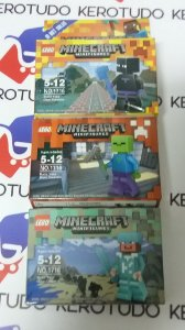 kit 3 bonecos Minecraft
