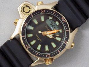 Relógio Atlantis A3220 série ouro