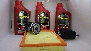 Óleo 15w40 + Kit Filtros Fiat Palio Strada Fire