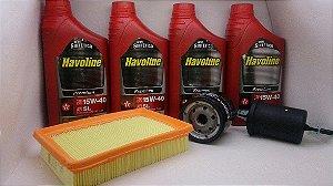 Óleo 15w40 Semi Sintetico + Kit Filtros Gm Corsa Pickup Corsa