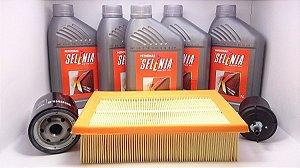 Óleo Selenia K 15w40 Fiat Brava 1.6 E Hgt 1.8 16v + Kit de Filtros