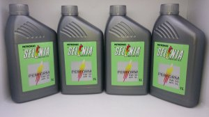 Óleo 5w30 Api SL 100% Sintético Selenia Homologado Ford Fiat Hyundai GM Kit 4 Lts